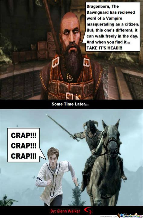 Dragonborn Meme - the dragonborn vs the vire by the shadow knight meme center