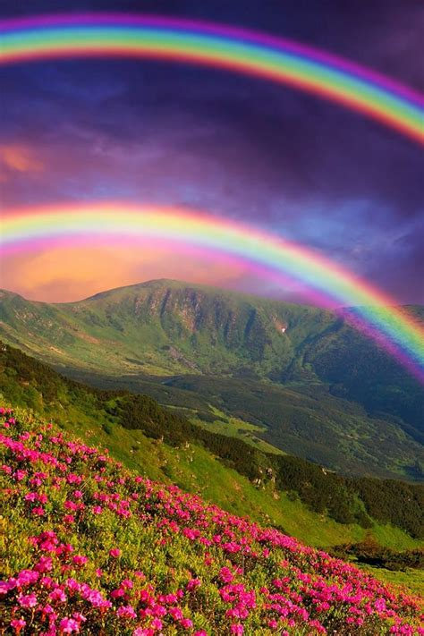 double rainbow wallpaper rainbow landscape iphone