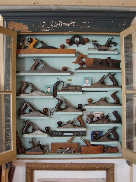 hand plane cabinet woodworking tool cabinet antique
