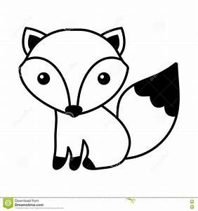 Cute fox isolated icon stock vector. Illustration of ...