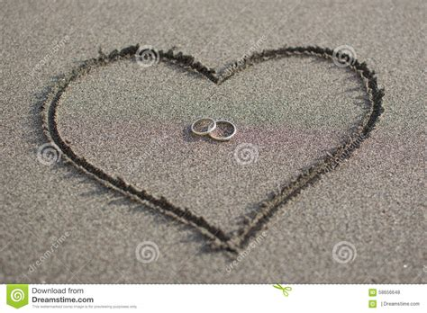 Love And Wedding On The Beach Stock Photo