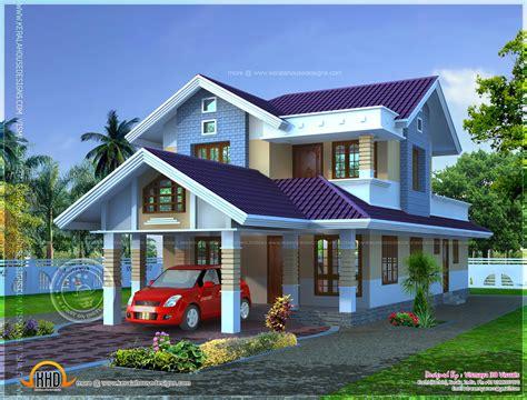 Narrow lot house plan Kerala home design and floor plans
