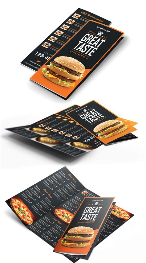 Every mockup is free, every mockups is easy to today i release free wrinkled poster mockup. Fast Food Menu Trifold Brochure Free PSD - Download PSD