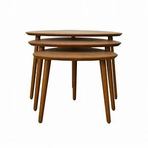 Table Basse Gigogne : tables basses gigognes en bois design scandinave noyer ~ Zukunftsfamilie.com Idées de Décoration