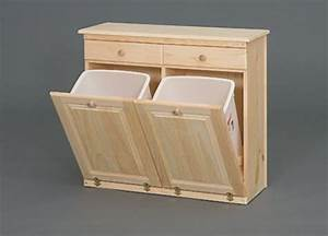 wooden kitchen trash bin wood garbage can holder storage With kitchen cabinets lowes with candle holders diy