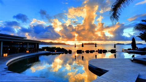 st barth hotel 4k pool sunset 8k hd travel tourism wallpapers infinity 5k christopher nature water saint pc cool barthelemy