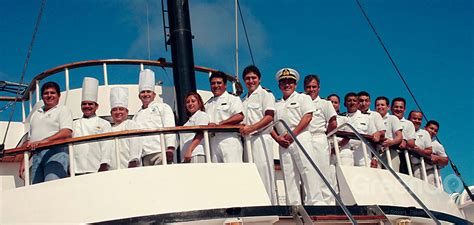 Staff on a cruise ship