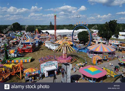 aerial view   dutchess county fair  rhinebeck ny