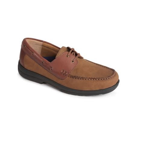 Boat Shoes Extra Wide by Padders Devon Mens Leather Extra Wide Plus Boat Shoes