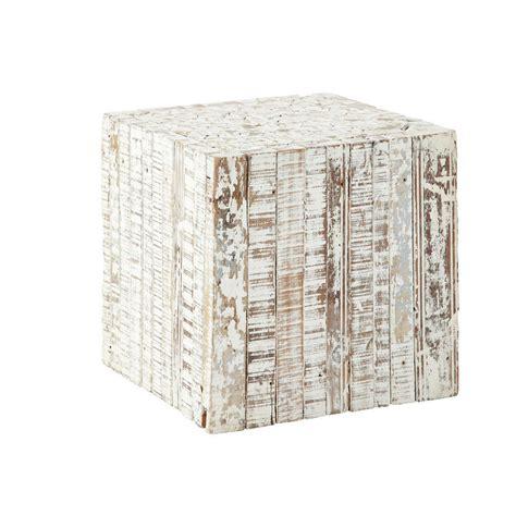 bout de canapé maison du monde bout de canapé en bois blanchi l 35 cm patras maisons du