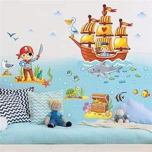 Wandtattoo Für Kinderzimmer : wandtattoo kinderzimmer piraten set ~ A.2002-acura-tl-radio.info Haus und Dekorationen