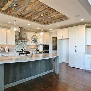25 best ideas about kitchen ceilings on pinterest With kitchen cabinets lowes with weathered wood wall art