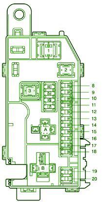 toyota  spyder engine compartment fuse box diagram