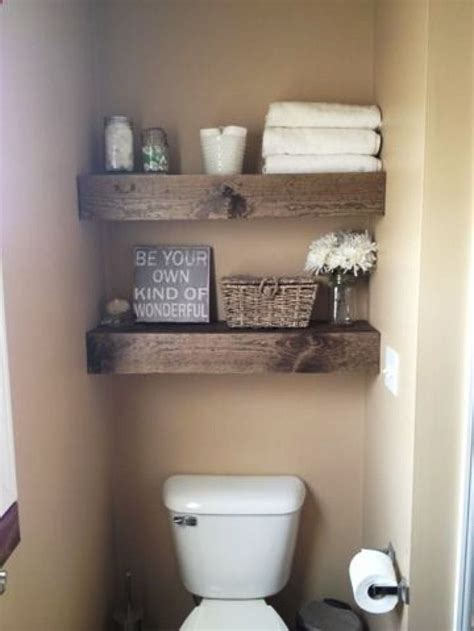 floating pallet shelves  storage  design bathroom