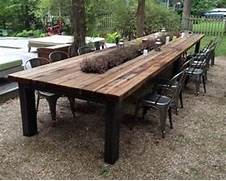 Make Outdoor Wood Table by Reclaimed Wood Outdoor Furniture Rustic Outdoor Tables Outdoor Intended For W