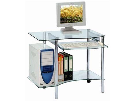 bureau informatique verre tremp bureau informatique en verre trempé transparent avec