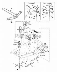 Gravely Parts On The Belts  Idlers And Blades Diagram For