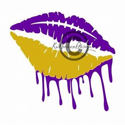 Lips Svg Dripping Football Cut Distressed Silhouette