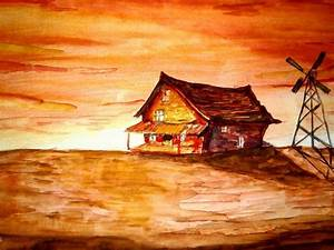 Courage the Cowardly Dog (House) watercolors | Art Amino