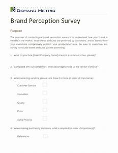brand perception survey With brand awareness survey template