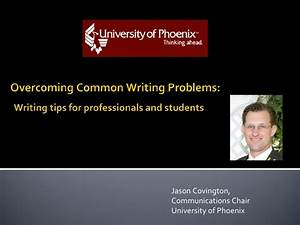 Overcoming Common Writing Problems