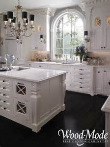White Cabinets with Carrera Marble Countertops