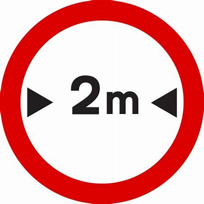 Sign Signs Meters Entry Wide Road Than