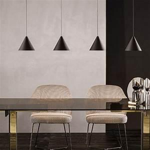 Modern, Light, Black, Metal, Long, Wire, Cone, Shape, Pendant, Lamp, Kitchen, Island, Hanging, Lamp, Be