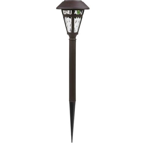 hton bay path landscape lights solar led bronze cage