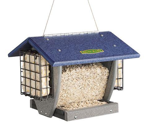 duncraft com cardinal hopper suet bird feeder