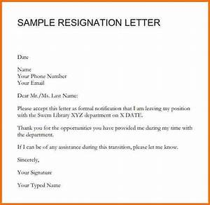 Corporate Resignation Letter Format Sample Of Resignation Letter 2016 Best Professional