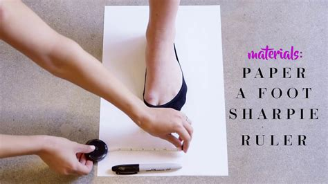 justfab presents   measure  shoe size youtube