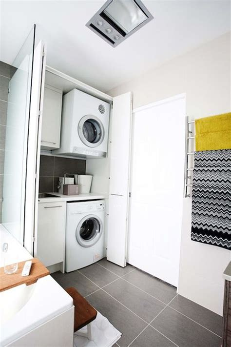 laundry in bathroom ideas small laundry bathroom decor