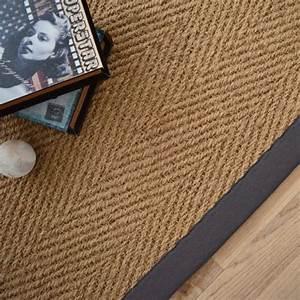 tapis coco paravan chevron ganse coton anthracite With tapis de coco