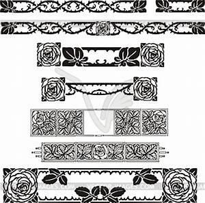 Jugendstil Florale Ornamente : florale ornamente im jugendstil vektor clipart vektor bild ~ Orissabook.com Haus und Dekorationen