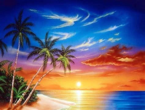 Animated Tropical Wallpaper - tropical island sunset wallpaper wallpapersafari