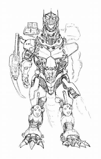 Godzilla Mechagodzilla Concept Against Kiryu 2002 Conceptual