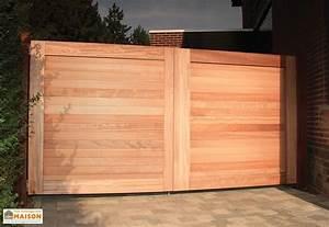 Portail En Bois : portail double battant en padouk bradford 300 x 180 cm ~ Premium-room.com Idées de Décoration