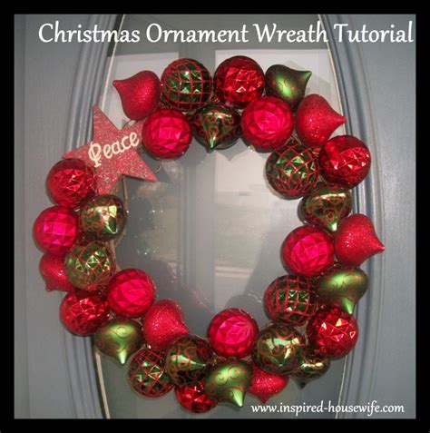 easy diy christmas ornament wreath tutorial inspired housewife