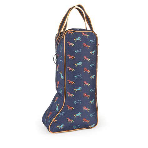Shires Boot Bag Horse Print