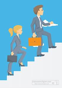 Business : business-man-woman-climbing-up-stairs ...