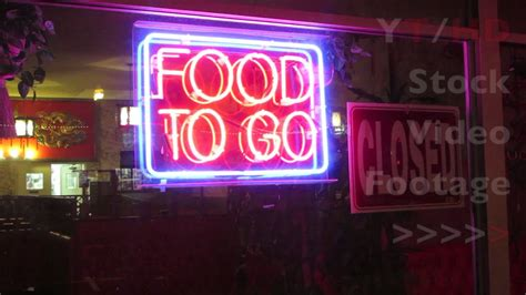 Outdoor Food To Go Neon Sign To Attract Business For Take