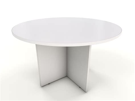 White Table by Maple Meeting Table Icarus Office Furniture