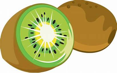 Kiwi Clipart Clip Strawberry Cartoon Fruit Transparent