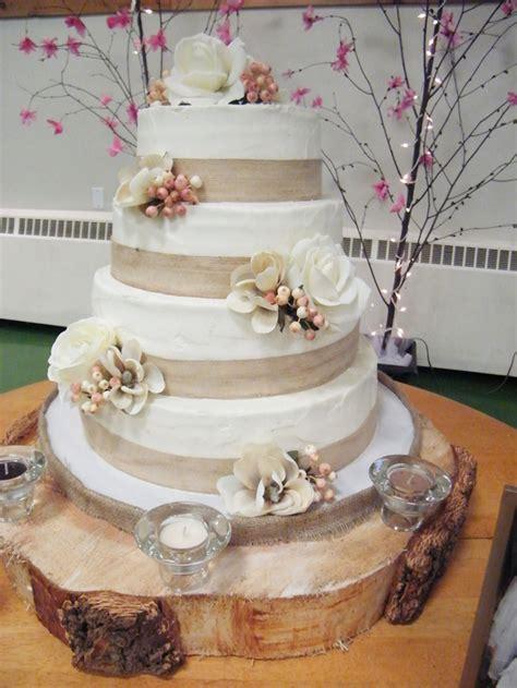 burlap ribbon wedding cake wedding cake cake ideas