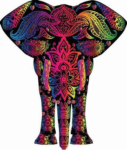 Clipart Elephant Colorful Rainbow Svg Pattern Transparent