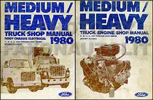 1980 Ford Medium Heavy Truck Original Service