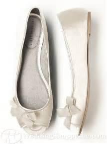 Peep Toe Flat Wedding Shoes