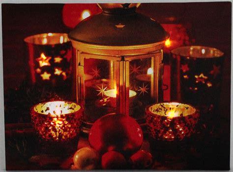 Led Weihnachtsbild Laterne Teelichter 5 Lichter Led Bild