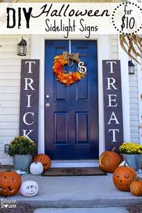 diy sidelight signs and fall porch reveal bless 39 er house